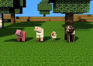 Minecraft Farm Animals - Cow, Chicken, Sheep, Pig
